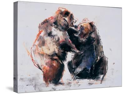 European Brown Bears, 2001-Mark Adlington-Stretched Canvas Print