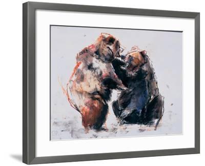 European Brown Bears, 2001-Mark Adlington-Framed Giclee Print