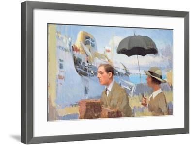 Arrival of the Scillonian, 2003-Alan Kingsbury-Framed Giclee Print