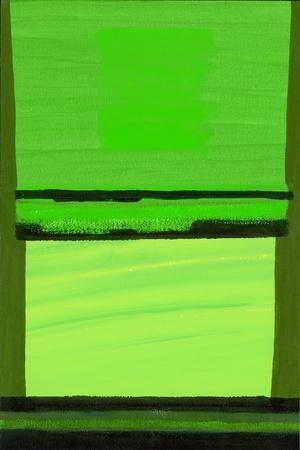 Kensington Gardens Series: Green on Green-Izabella Godlewska de Aranda-Stretched Canvas Print