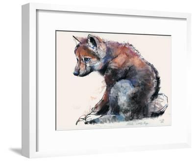 Polish Wolf Pup, 2001-Mark Adlington-Framed Giclee Print