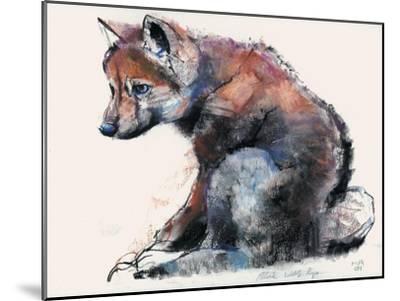 Polish Wolf Pup, 2001-Mark Adlington-Mounted Giclee Print
