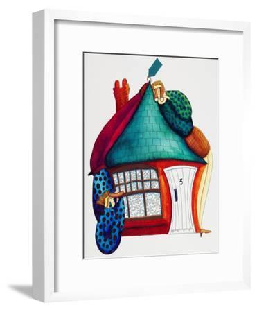 Checking New Home, 1992-Julie Nicholls-Framed Premium Giclee Print