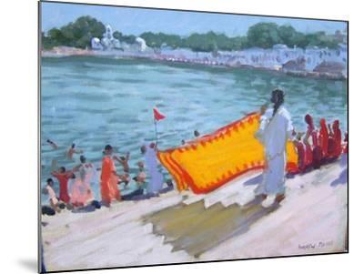 Drying Sari, Pushkar-Andrew Macara-Mounted Giclee Print