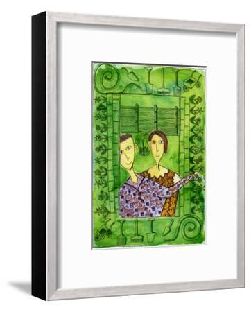 Gardening, 1990-Julie Nicholls-Framed Premium Giclee Print