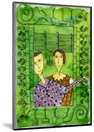Gardening, 1990-Julie Nicholls-Mounted Premium Giclee Print
