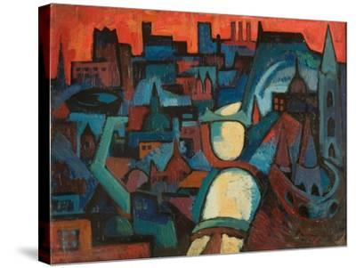 The City, the Danube at Budapest, 1963-Emil Parrag-Stretched Canvas Print