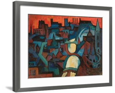 The City, the Danube at Budapest, 1963-Emil Parrag-Framed Giclee Print