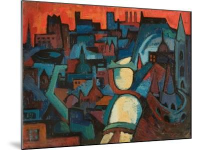 The City, the Danube at Budapest, 1963-Emil Parrag-Mounted Giclee Print