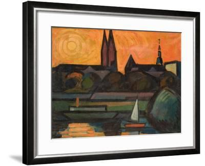 The River Tisza at Szeged, 1965-Emil Parrag-Framed Giclee Print