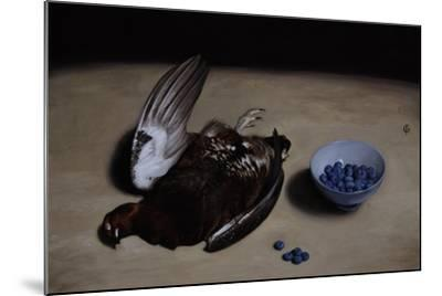 Grouse and Blueberries, 2008-James Gillick-Mounted Giclee Print
