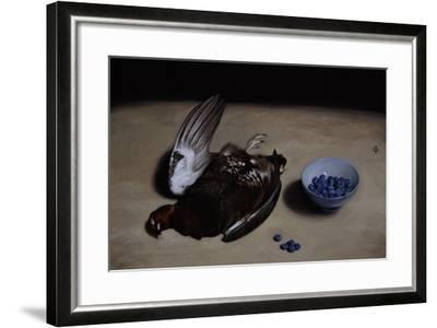 Grouse and Blueberries, 2008-James Gillick-Framed Giclee Print