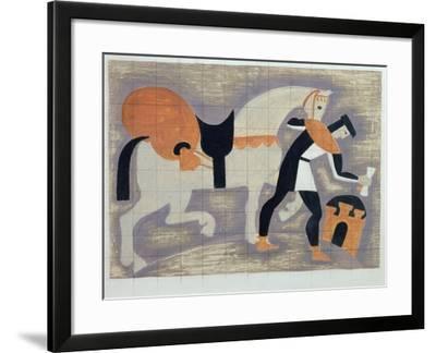 The King's Messenger, Ad 1482, 1935-John Armstrong-Framed Giclee Print