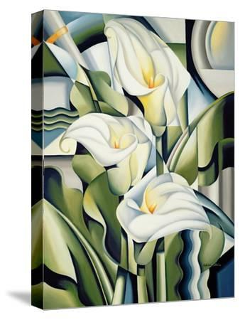 Cubist Lilies, 2002-Catherine Abel-Stretched Canvas Print