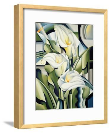 Cubist Lilies, 2002-Catherine Abel-Framed Premium Giclee Print