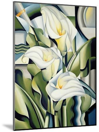 Cubist Lilies, 2002-Catherine Abel-Mounted Premium Giclee Print