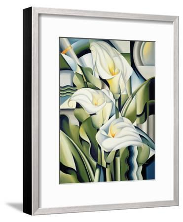 Cubist Lilies, 2002-Catherine Abel-Framed Giclee Print