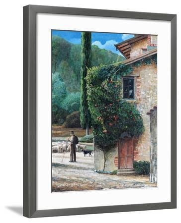 Shepherd, Peralta, Tuscany, 2001-Trevor Neal-Framed Giclee Print