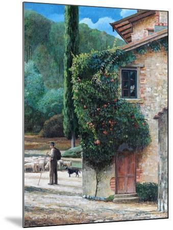 Shepherd, Peralta, Tuscany, 2001-Trevor Neal-Mounted Giclee Print