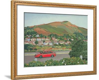 From the Train, South Wales-Anna Teasdale-Framed Giclee Print