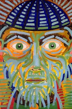 The Gaze of the Magus, 2005-Jan Groneberg-Stretched Canvas Print