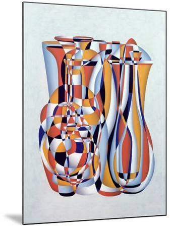 Transient Vessels Transposed, Lapis Orange-Brian Irving-Mounted Giclee Print