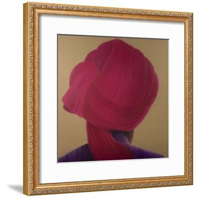 Deep Red Turban, Purple Jacket-Lincoln Seligman-Framed Giclee Print