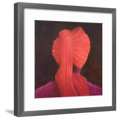Red Turban in Shadow-Lincoln Seligman-Framed Giclee Print