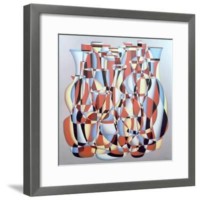 Dimentional Transposition, Vermillion Cerulean-Brian Irving-Framed Giclee Print