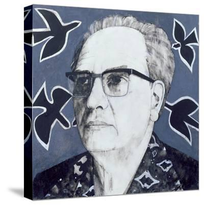 Portrait of Olivier Messiaen, Illustration for 'The Sunday Times', 1970s-Barry Fantoni-Stretched Canvas Print