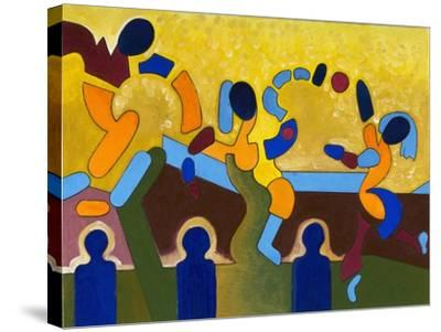 Ceremony of a Sacred Game of Balls, 2007-Jan Groneberg-Stretched Canvas Print