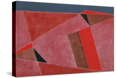 Triangulated Red Landscape, 2002-George Dannatt-Stretched Canvas Print