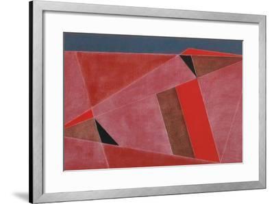 Triangulated Red Landscape, 2002-George Dannatt-Framed Giclee Print