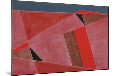 Triangulated Red Landscape, 2002-George Dannatt-Mounted Giclee Print