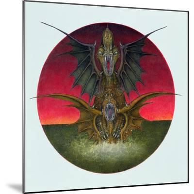 Mating Dragons, 1979-Wayne Anderson-Mounted Giclee Print