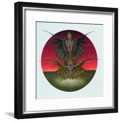 Mating Dragons, 1979-Wayne Anderson-Framed Giclee Print
