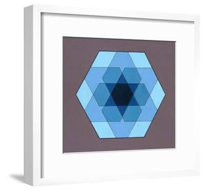 Overlaying Hexagons, 2009-Peter McClure-Framed Giclee Print