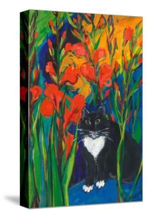 Tom and Gladioli, 1998-Sarah Gillard-Stretched Canvas Print