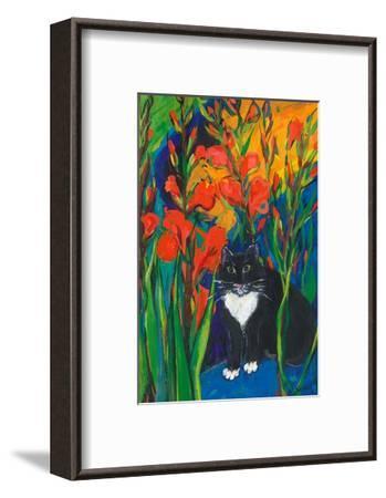Tom and Gladioli, 1998-Sarah Gillard-Framed Giclee Print