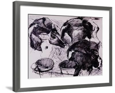 Calves, Damp, Newborn, 1978-Brenda Brin Booker-Framed Giclee Print