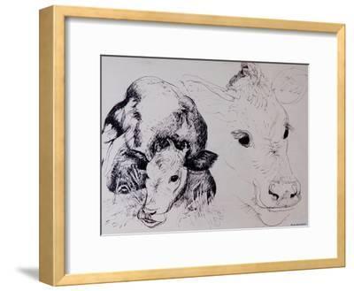 Calves, Gt Garnetts II-Brenda Brin Booker-Framed Giclee Print