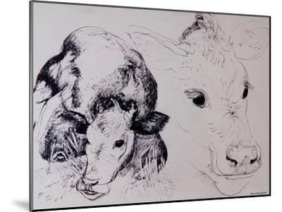 Calves, Gt Garnetts II-Brenda Brin Booker-Mounted Giclee Print