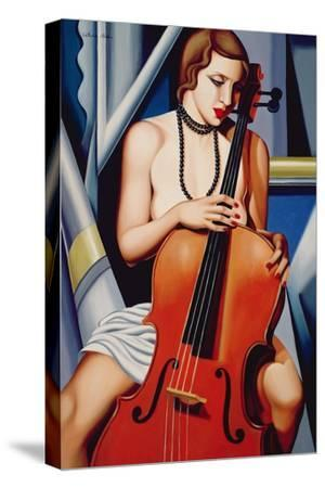 Woman with Cello-Catherine Abel-Stretched Canvas Print