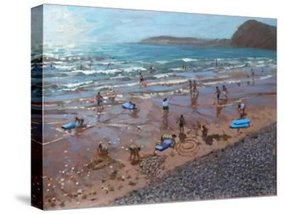 Circles in the Sand, Sidmouth, 2007-Andrew Macara-Stretched Canvas Print