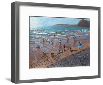 Circles in the Sand, Sidmouth, 2007-Andrew Macara-Framed Giclee Print