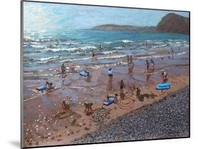 Circles in the Sand, Sidmouth, 2007-Andrew Macara-Mounted Giclee Print