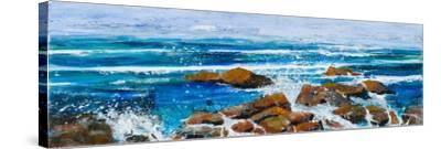 Coastal Encounter-Margaret Coxall-Stretched Canvas Print