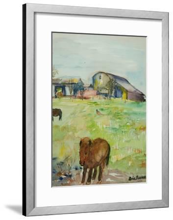 Pony in the Farm Meadow, East Green, 1980-Brenda Brin Booker-Framed Giclee Print