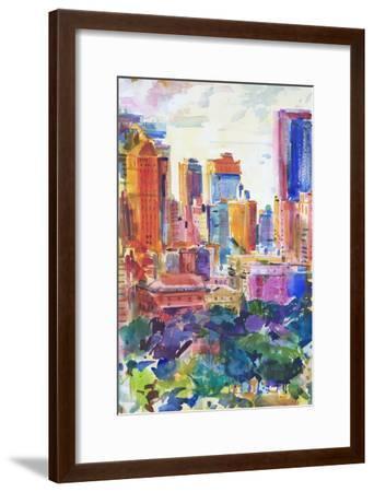 Central Park West, 2011-Peter Graham-Framed Giclee Print
