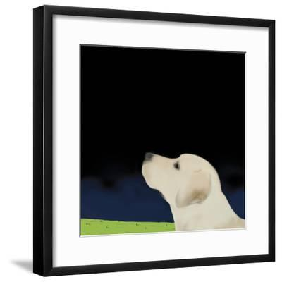 Yellow Dog Profile, 2008-Marjorie Weiss-Framed Giclee Print